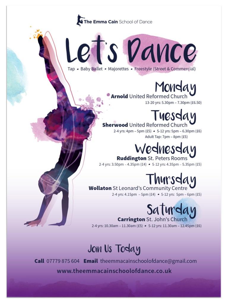 The Emma Cain School Of Dance Flyer